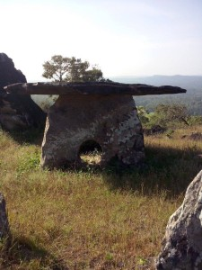 Dolmen with circles - Sulimalthe, Somwarpet India